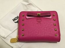 MCM Pink Small Mina Zipped Leather Wallet RARE *NEW*