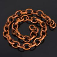 Exquisite Hand-carved 21 inches Link Chain out of one piece of Sawo Wood 16.46g