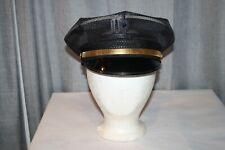 Vintage Policeman Patrolman 8 Point Police Cop Hat Cap Visor Mesh Summer 7 1/4