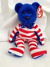 Ty Beanie Baby Bear Liberty MWT retired 2002 Tag Errors