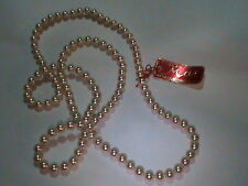29 Inche LONG 6 MM Super Majorca Pearl Necklace Vintage Knotted Signed Tag N O S