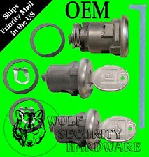 GM Oldsmobile Door Lock Key Cylinder Pair & Trunk Boot Lock Set 2 Keys Chrome