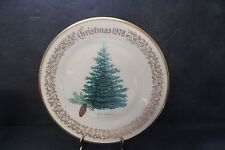 LENOX CHRISTMAS TREE PLATE 1978 BLUE SPRUCE BOXED