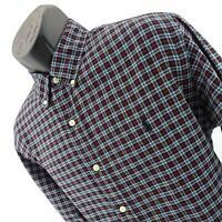 Mens Polo Ralph Lauren Black Plaid Athletic Oxford Golf Dress Shirt Size Large L