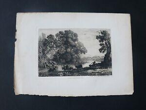 """Amand-Durand Circa 1880 Heliogravure After Claude (Gelle) Lorain """"Le Bouvier"""""""