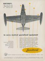 1952 Janitrol Aviation Heaters Ad Northrop F-89D Scorpion Jet Fighter F89 USAF