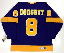 DREW DOUGHTY LOS ANGELES KINGS VINTAGE CCM PURPLE JERSEY