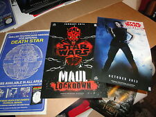 NYCC 2013 PROMO  POSTERS  DEL RAY   STAR WARS   LOT OF 3    2-sided