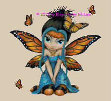 """Butterfly Kisses"" Fairy Fantasy Cross Stitch Pattern CD"