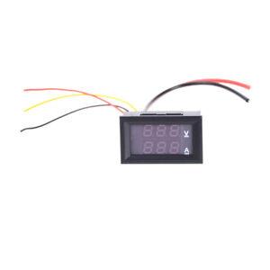 Digital Red LED Voltage Meter DC100V 10A Voltmeter Ammeter Blue+Red LED Amp D ti