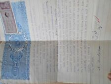 British india - 3 As.  - KG VI - George VI - Stamp Bond Paper