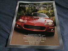 2001 Chevy Chevrolet Camaro Z28 Original Brochure Prospekt
