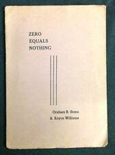 "1951 ""Zero Equals Nothing"" Austrailian Sci-fi Graham Stone Royce Williams 1st ed"