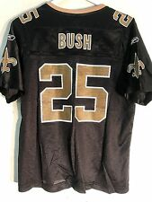 Reebok Women's NFL Jersey New Orleans Saints Reggie Bush Black sz L