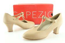 Capezio 750 Jr Footlight Women's Tan Caramel Strap Dance Heels US 7 M Shoes D435