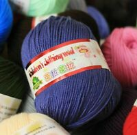 Cashmere Yarn For Hand Knitting Crochet 132Meter/Ball Wool Silk Crochet Threads