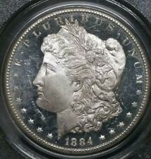 1884 CC $1 Morgan PCGS MS64 DMPL White Deep Mirror Proof Like GSA Silver Coin