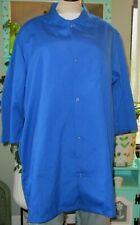"Best Medical Woman Lab Coat Snap 3/4 Sleeve 35"" Length Royal Blue Size Xl"