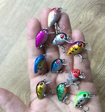 10 X Brand New Snap Bean Micro Ultra Light Lures Perch Trout Chub Fishing UK #21