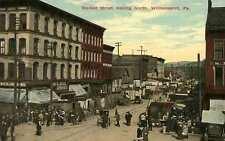 1909 WILLIAMSPORT PA busy Market Street North postcard