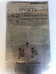 """Newspaper Printing Plate , """"Happy Landing"""" NBA Finals, June 17, 2001 (Rare)"""