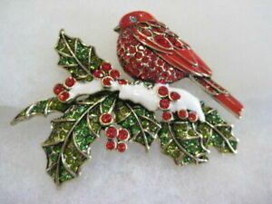 """HEIDI DAUS CRYSTAL PIN """" FEATHERS FROM HEAVEN """"   GREAT FOR GIFT,   NEW, BOXED"""