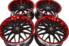 18 red lip Wheels Rims Camry Accord Eclipse Fusion TL Avalon Optima RAV4 5x114.3