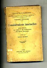 Frédéric Nietzsche # CONSIDÉRATIONS INACTUELLES #Mercvre de France-David Strauss