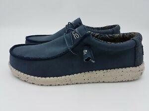 Scarpe sneakers uomo HEY DUDE Wally recycled navy blu primavera estate 2021