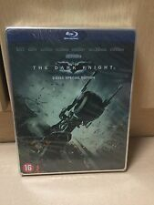 The Dark Knight Dutch 2 Disc Blu Ray Steelbook / Stickerbook Edition Batman