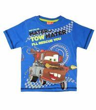 T-shirts, débardeurs et chemises bleu Disney manches courtes pour garçon de 2 à 16 ans