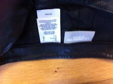 Liz Claiborne Black Soft  Leather Trousers Size 8 ****