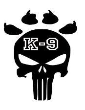 punisher paw print k9 police skull  Decal Tumbler Vinyl Car,Yeti,Laptop