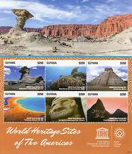 Guyana 2015 MNH UNESCO World Heritage Sites Americas 6v M/S Chichen Itza Pitons