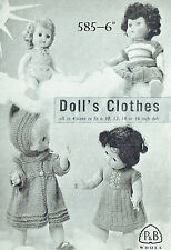 "Knitting Pattern: DOLL'S CLOTHES for 10, 12, 14 & 16"" DOLLS/ KNITTING PATTERN"