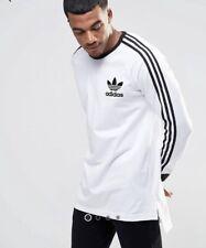 Mens Adidas Originals Long Sleeve T Shirt White Size L