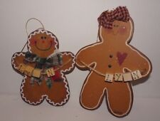 Wood Gingerbread Man Woman Personalized (can be modified) Christmas Ornaments