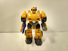 Hap-P-Kid Yellow Electronic & Light Up Robot Action Figure  t3863