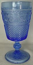 """JOHNSON BROTHERS crystal EVERYDAY GLASS - BLUE pattern WATER GOBLET Glass 6-5/8"""""""