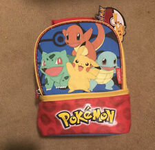 NEW Pokemon Kids School Lunch Bag Kit 100% PVC FREE W/ Insulated Thermos Lining