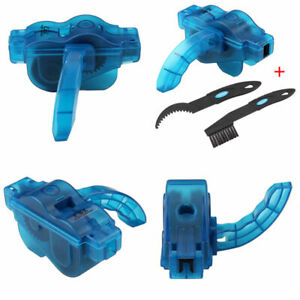 Bicycle Chain Cleaner Bike Maintenances Blue Tool Lubrication Cleaning Wheel UK