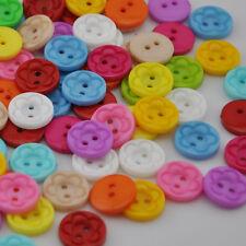 100pcs Mix Color Baby DIY sewing appliques crafts Plastic Button PT21
