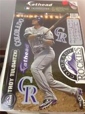 "New Troy Tulowitzki #2 Colorado Rockies 9"" x 16"" Fathead 8 Pc Sticker Set"