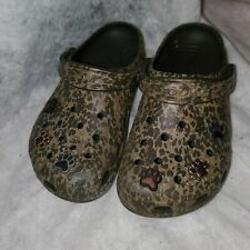 Crocs Classic Retired Leopard Style Print With Charms Womens 7 Mens 5