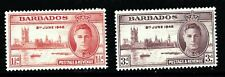 KING GEORGE VIth VICTORY STAMPS. BARBADOS SG262-263. UNMOUNTED MINT.