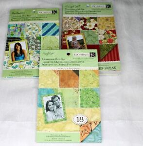 K&Company Susan Winget Designer Mat Pad CHOICE  18 Sheets  PoppySeed Nature