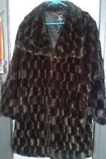 DENNIS BASSO Faux Fur Coat Women X LARGE