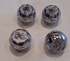 Set of 4 Chrome spider stem caps covers Tire Air Valve Lifetime warrantyFits all