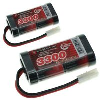 VapexTech 2x 3300mAh 4.8V SubC SC RC NiMh 2x2 Battery Pack + Various Connectors