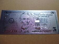 USA 5 DOLLARS / 999 SILVER APPLIKATION SILBER ARGENTO #4628